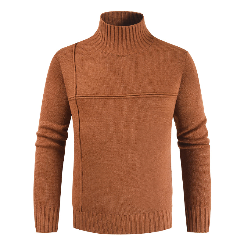 2019 New Fashion Mens Winter Sweater Casual Solid Slim Fit Turtleneck Men Pullovers Casual Business Men's Sweater