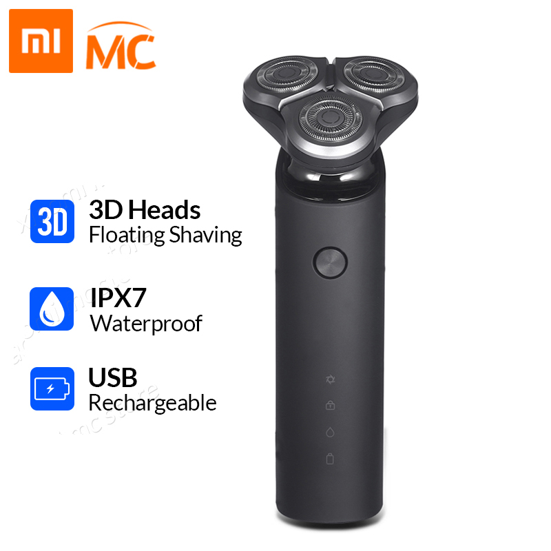 Xiaomi Electric-Shaver Beard-Trimmer Shaving-Machine Flex-Razor Dual-Blade Washable 3-Head-Dry