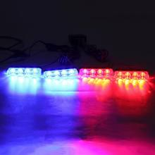Red Blue Yellow White Auto car Front Grille Emergency Flash Warning light LED Strobe Light 3 Mode for Police Firefighter Y4UA(China)