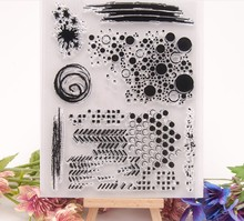 JIANWU Simple Circle Mark Clear Stamps For Scrapbook Frame Journal Transparent Stamp Crafts  clear stamps