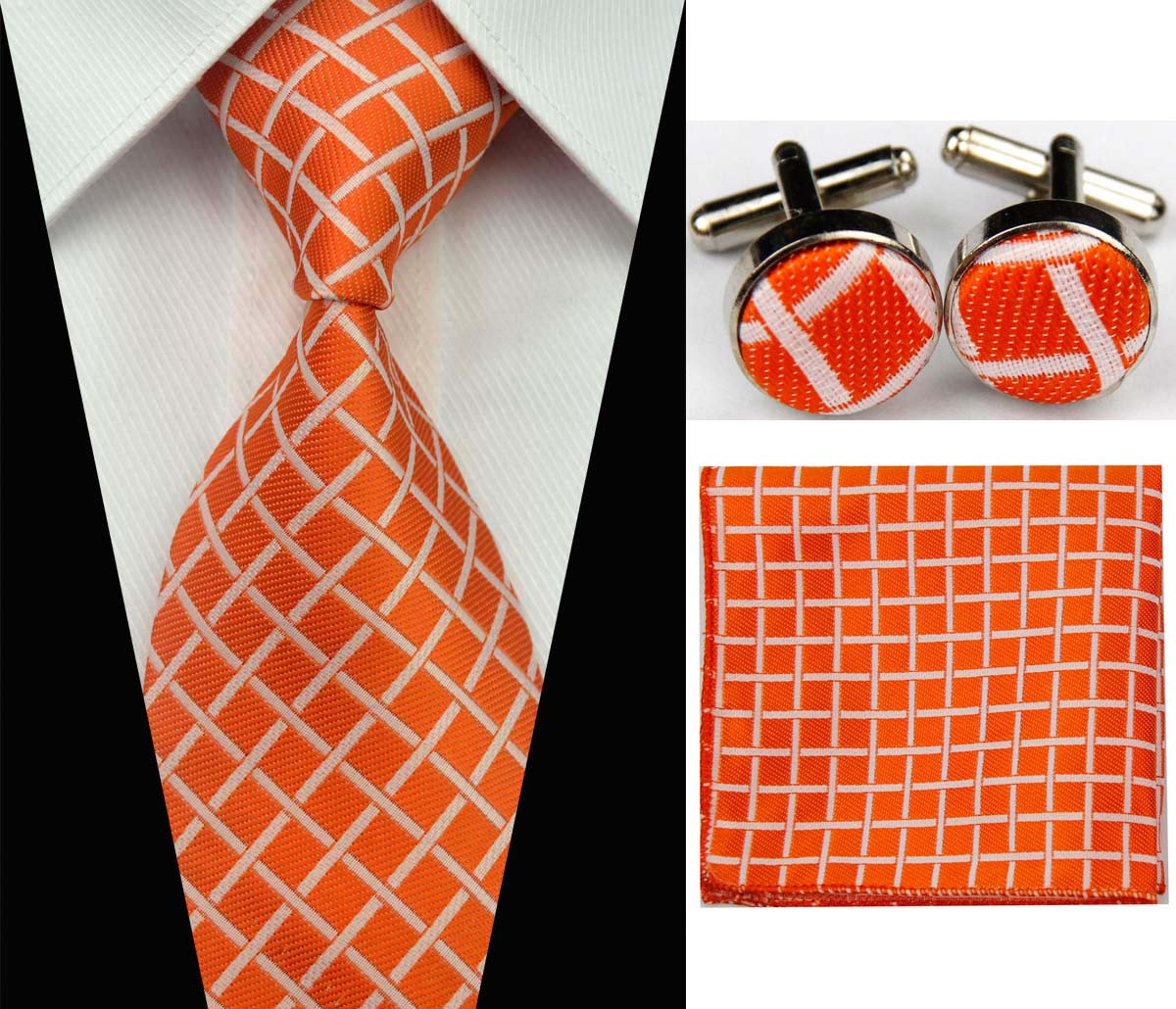 Men's Silk Tie Set Gravatas Man Accessories Necktie For Men Striped Geometric Pattern Business Silk Wedding Suit Ties