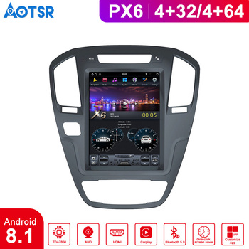 Car Android dashboard 8.1 Tesla Style Screen Car radio tape for Buick Regal 2008-2013 Auto Stereo Car Multimedia Player radio