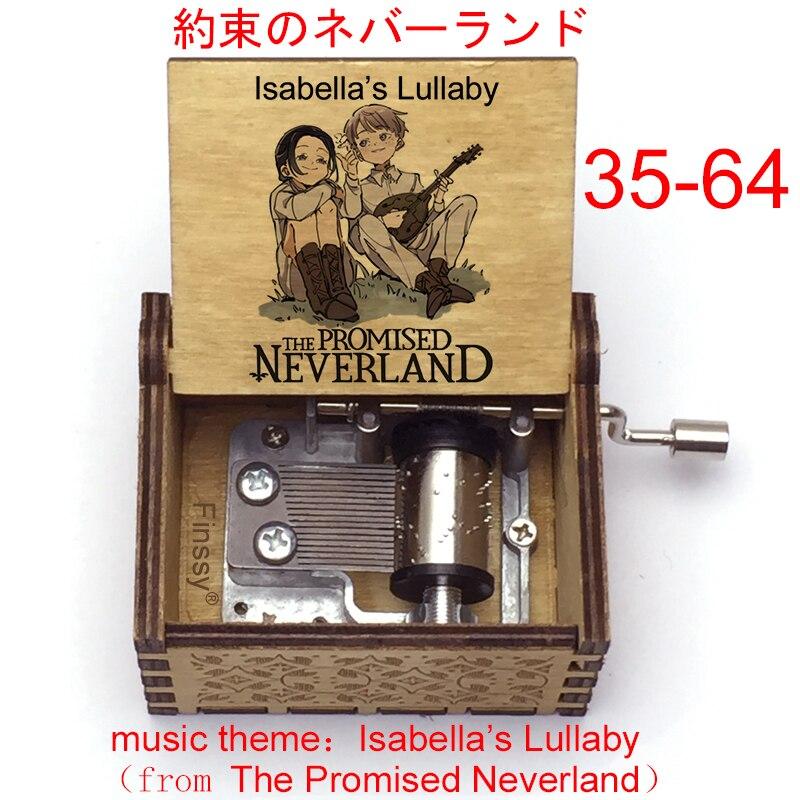 Музыкальная шкатулка Isabella's Lullaby из аниме обещанный Neverland, музыкальная шкатулка для фанатов, Рождественский и новогодний подарок, украшение ...