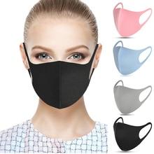 20 шт., хлопковая маска для лица, Ушная петля, губка, повторно используемая дышащая Пылезащитная маска для рта, защита от загрязнения, PM2.5, защита от ветра, крышка для рта