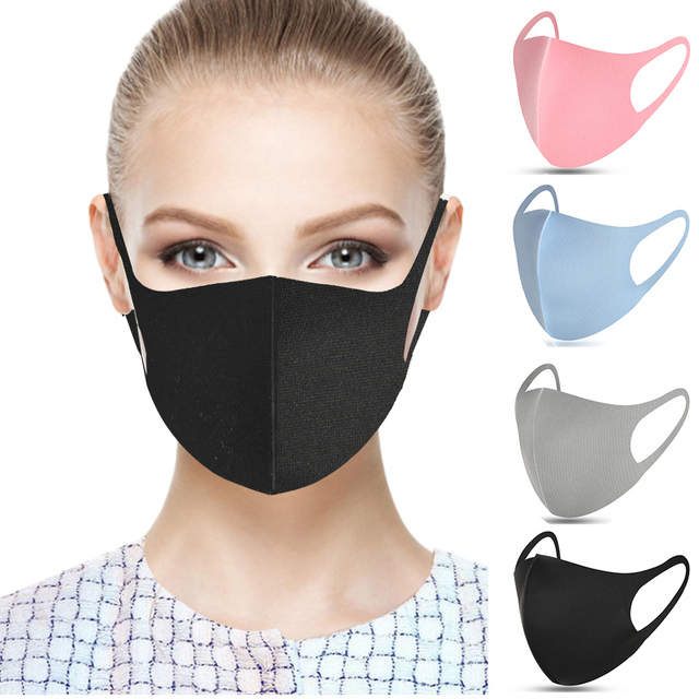20pcs Cotton Face Mouth Earloop Face Mask Sponge Reused Breathable Dust Mouth Masks Anti Pollution PM2.5 Wind Proof Mouth Cover