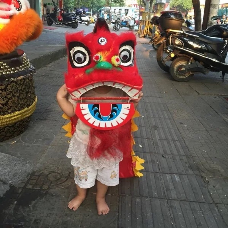 Kid Size Lion Dance Costume Children Lion Costumes Chinese Style Cosplay Props Mascot Costume Outfit