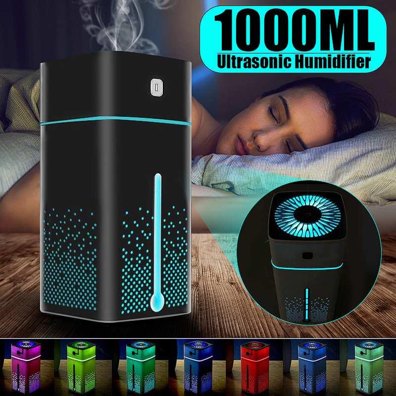 NEW 1000ml USB Portable Air Humidifier Aroma Oil Diffuser Atomizer Ultrasonic Humidificador Aromatherapy Capacity Car Home