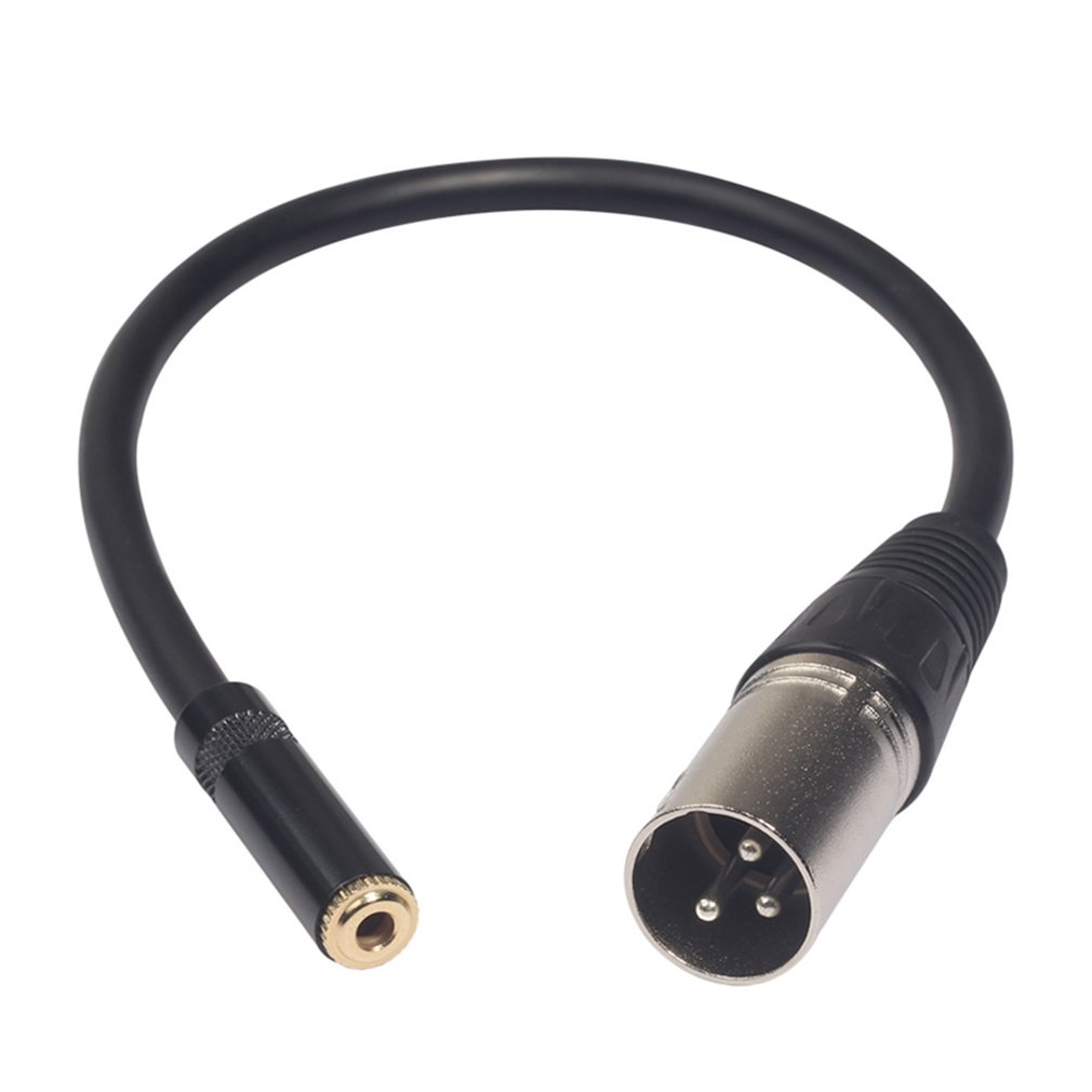 US $1.77 25% OFF|0.3M Xlr 3 Pin Male To 3.5Mm Stereo Plug Shielded on