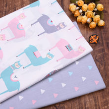 100% Cotton Horse DIY Fat Quarters Quilting Handmade Material Baby Dress Bedding Blanket Sheets Tissus Tecido Cotton Fabric(China)