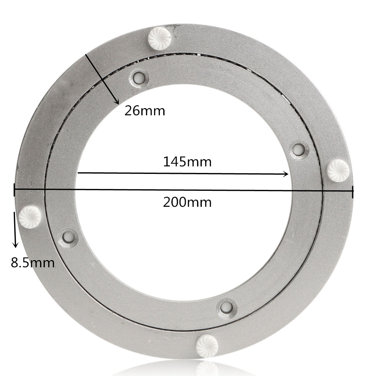 20/14cm Heavy Aluminium Rotating Bearing Turntable Turn Table Round Swivel Plate For Cake Decorations Catering Services