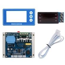 Двойной Импульсный кодировщик точечной сварки плата управления модуль DIY с материнской платой пластмассы база