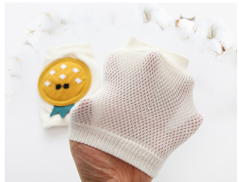 New Summer Children's Kneepad Combed Cotton Mesh Breathable Baby Crawling Knee Knitting Kneepad