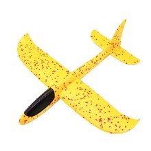 48cm Diy Hand Throw Flying Glider Planes Toys For Children Foam Big Aeroplane Model Party Bag Fillers Flying Children Boys Gift