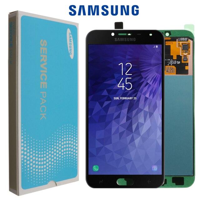 מקורי סופר AMOLED LCD עבור סמסונג גלקסי J4 J400 J400F J400F/DS J400G/DS LCD תצוגה עם מגע החלפת עצרת מסך
