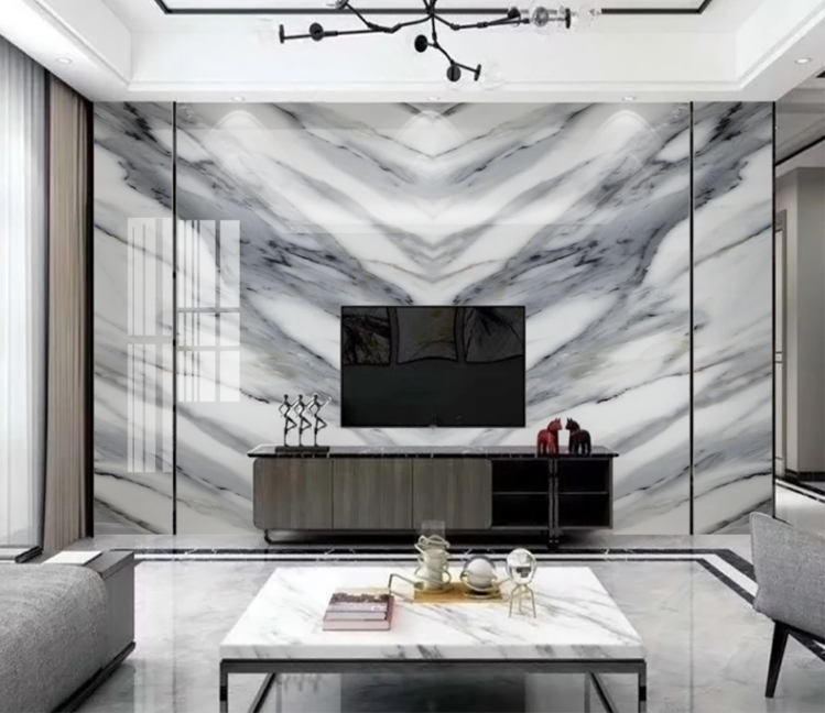 Us 864 52 Offblack White Marble Wallpaper For Bedroom Photo Contact Wall Paper Hd Printed Abstract Murals Paper Wall Decor Home Improvement On
