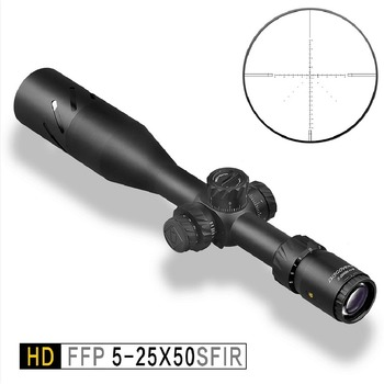Discovery HD FFP 5-25X50 SFIR hunting rifle scope 5000 Joules Shock proof with Illumination for Long Range Shootingooting discovery hd 10x44 sfir hunting scope riflescope tactical sniper tactical shooting with illumination airguns optisc