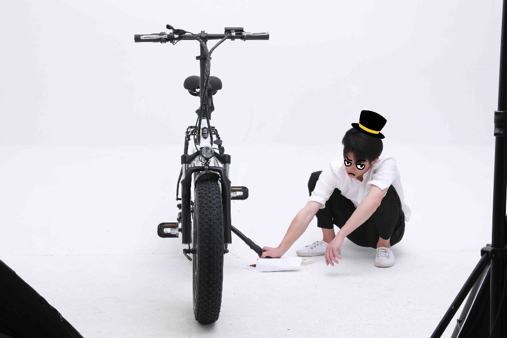 Electric Bicycle sheng milo 48v Battery Folding  Electric bike 500w Motorcycle ebike 20-inch Portable Mountain snow Ebike