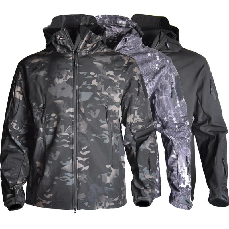 TAD Men Softshell  Jacket Tactical Army Coat Waterproof Outdoor Camouflage Hunting Clothes Hiking Camping Windbreaker