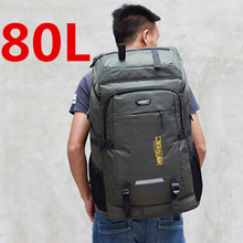 80L unisex men backpack travel pack sports bag pack waterproof Outdoor Mountaineering Hiking Climbing Camping backpack for male
