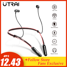 UTRAI Wireless Earphones Bluetooth Sport Magnetic Bass Headphone HIFI Earbuds Headset With Microphone Neckband Gaming Headset