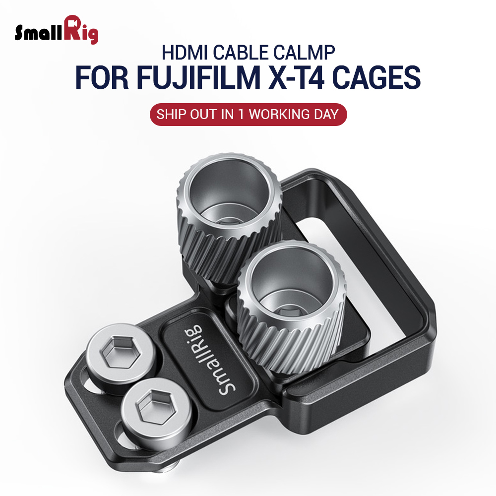 SmallRig HDMI And USB Type-C Cable Clamp For FUJIFILM X-T4 Cages 2809