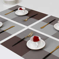 Quality Placemats for Dining Table Home Woven Vinyl Washable Table Place mats Durable Heat-resistant Table Mats Pack of 4PCS