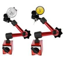 Mini indicador de discagem de alavanca, indicador magnético à prova d'água com suporte e indicador de teste, indicador de discagem, 0.01mm