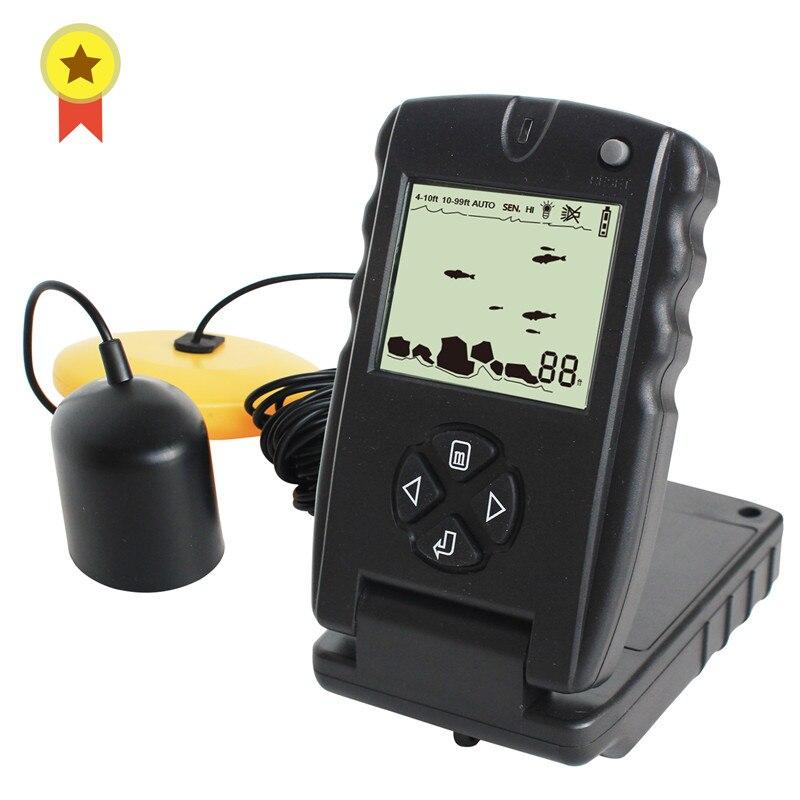 Manuel russe! Sonar portatif 100ft sondeur pêche leurre écho sondeur pêche trouveur FF717