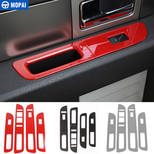 MOPAI for Ford F150 Raptor 2009+ Car Interior Window Lift Panel Switch Button Decoration Cover Stickers 2009-2014