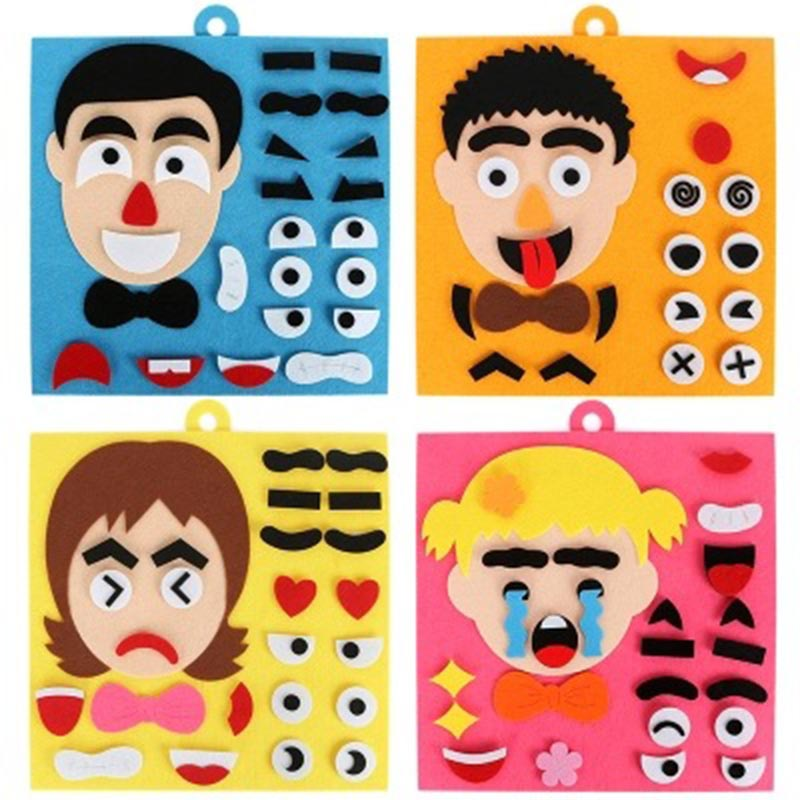 Children Learning Funny Set Kid DIY Emotion Change Puzzle Toys Baby Creative Facial Expression Improve Hands-on Ability Toy