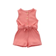 Sleeveless Baby Rompers Summer Baby Shor