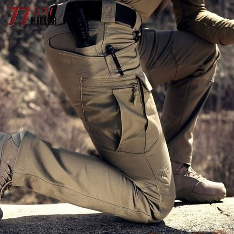 77City Killer 5XL 6XL Military Combat Pants Men Tactical Waterproof Cargo Mens Pants Breathable SWAT Army Trousers Work Joggers