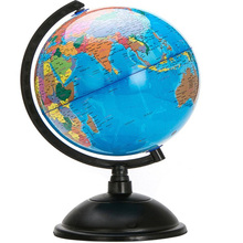 Blue Globe With Swivel Stand 20CM Ocean World Globe Map Geography Educational Toy Enhance Knowledge Of Earth And Geography Tools