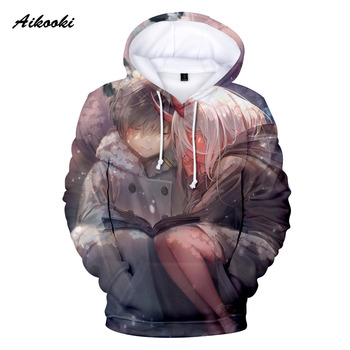 Hoodies Sweatshirts High Quality 2020 Darling in The Franxx Hoodie Classic Anime Dear Frank 3D Tops 3D Print Boys/girls Spring недорого