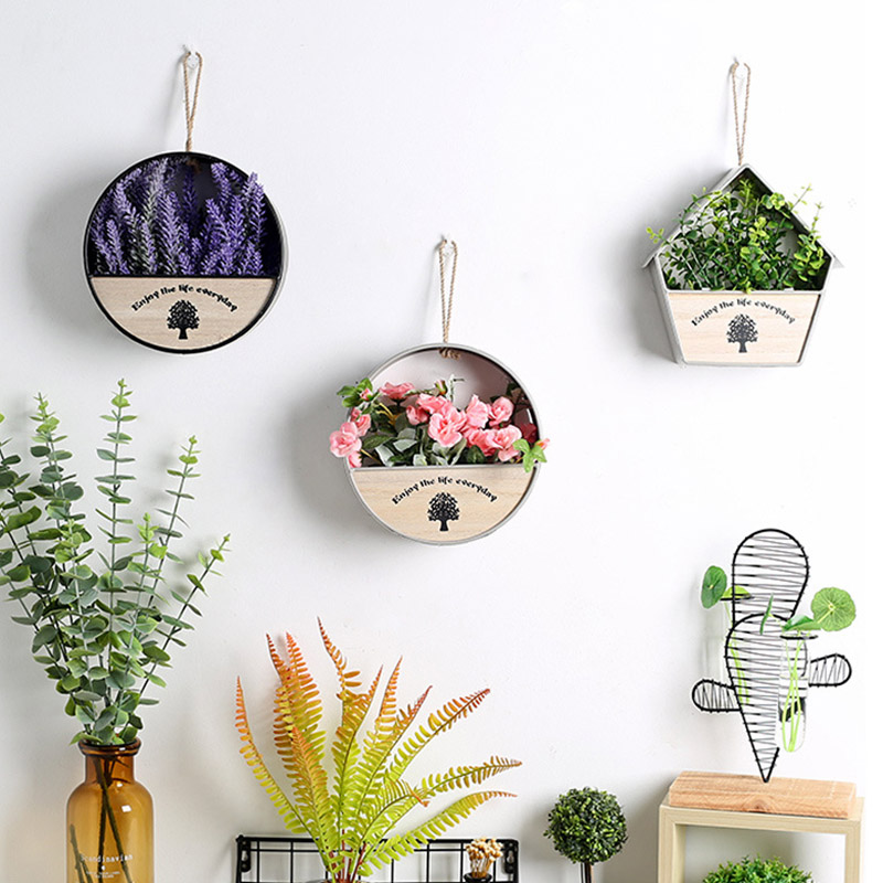Flower Hanger Pot Wall Hanging Flower Basket Holder For Outdoor Garden Balcony Wall Decoration|Hanging Baskets| |  - title=