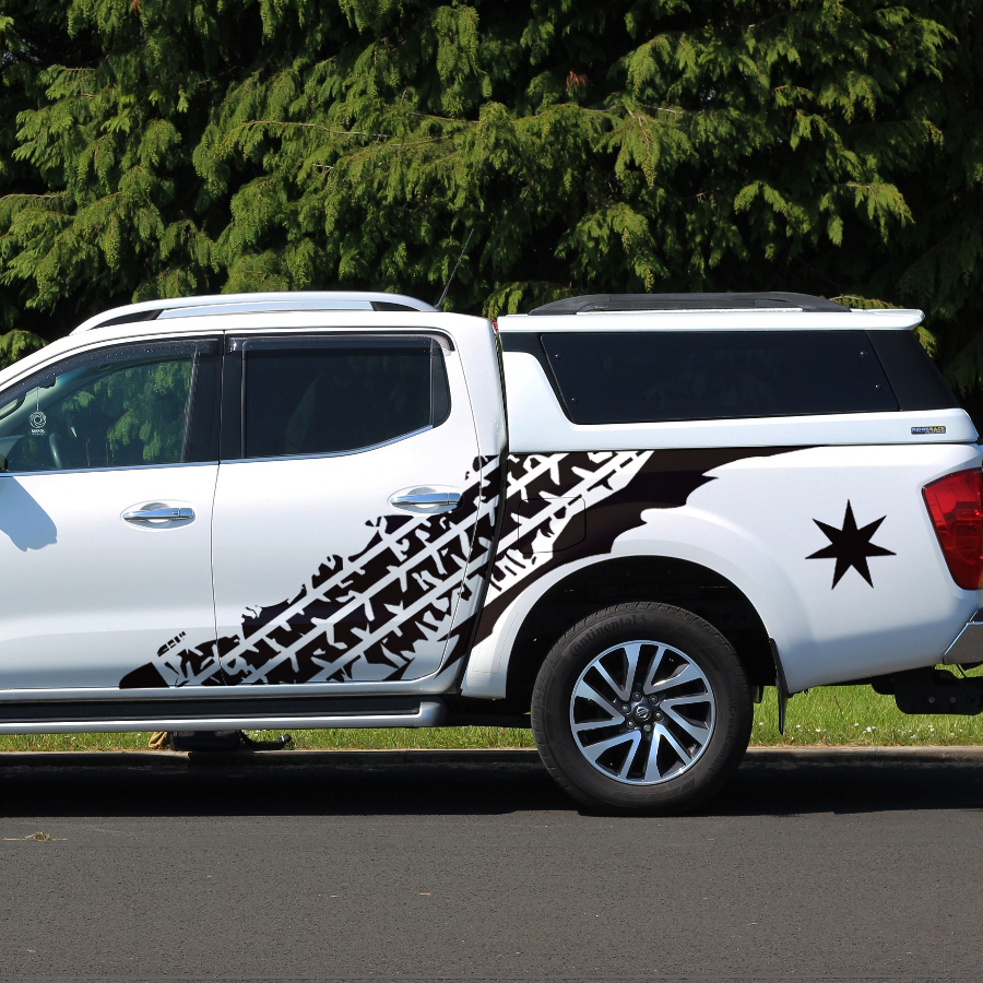 Vuile mudslinger tire modder road auto body pickup grafische Vinyl sticker 4x4 auto decal - 1