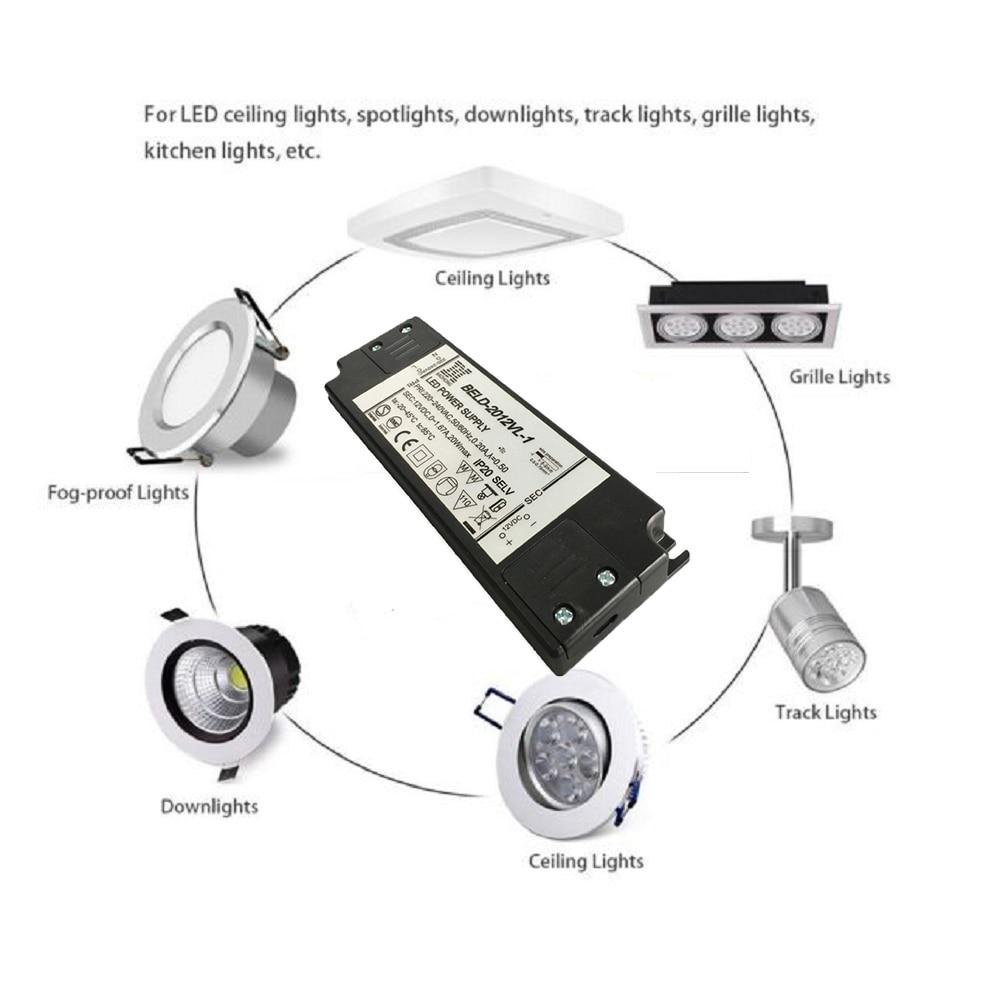 HoneyFly Super Slim LED-Treiber 20 W 12 V LED-Transformator mit - Leuchten Zubehör - Foto 4