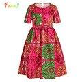 Dashiki African Kids Girls Dress Summer 2020 Short Sleeve Children's Dresses Robe Fille Traditional Printed Girl Clothes Vestido