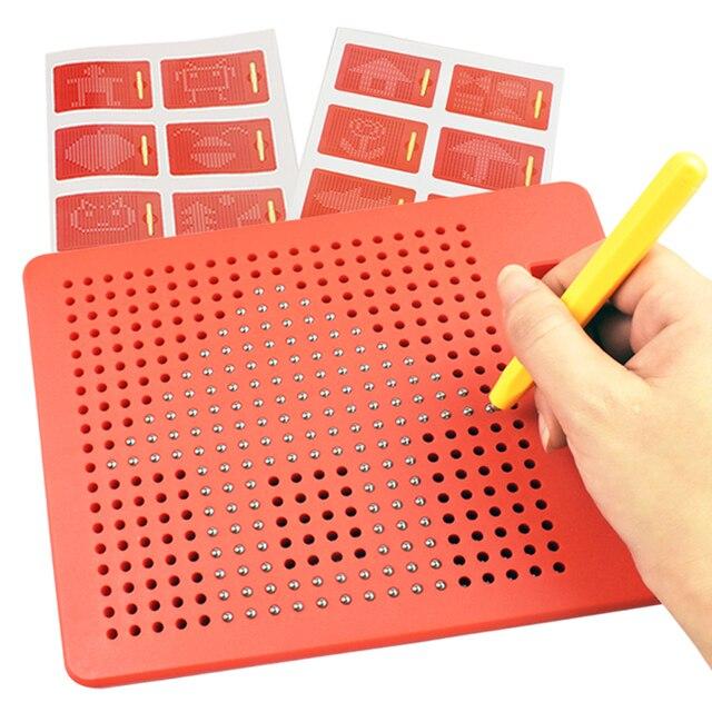 380 Uds. Juega a la pizarra de dibujo magnética, almohadillas para jugar al lápiz, juguetes de aprendizaje para bebés, juguete borrable Magna Doodle PADs para niños, regalos