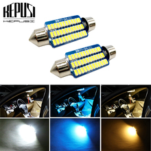 2x C5W C10W LED Festoon Bulbs 31mm 36mm 39mm 41mm Car Interior Dome Light License Plate White blue for toyota camry
