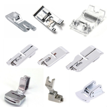 Domestic Sewing Machine Foot Presser Rolled Hem Feet Set Sewing Accessories image