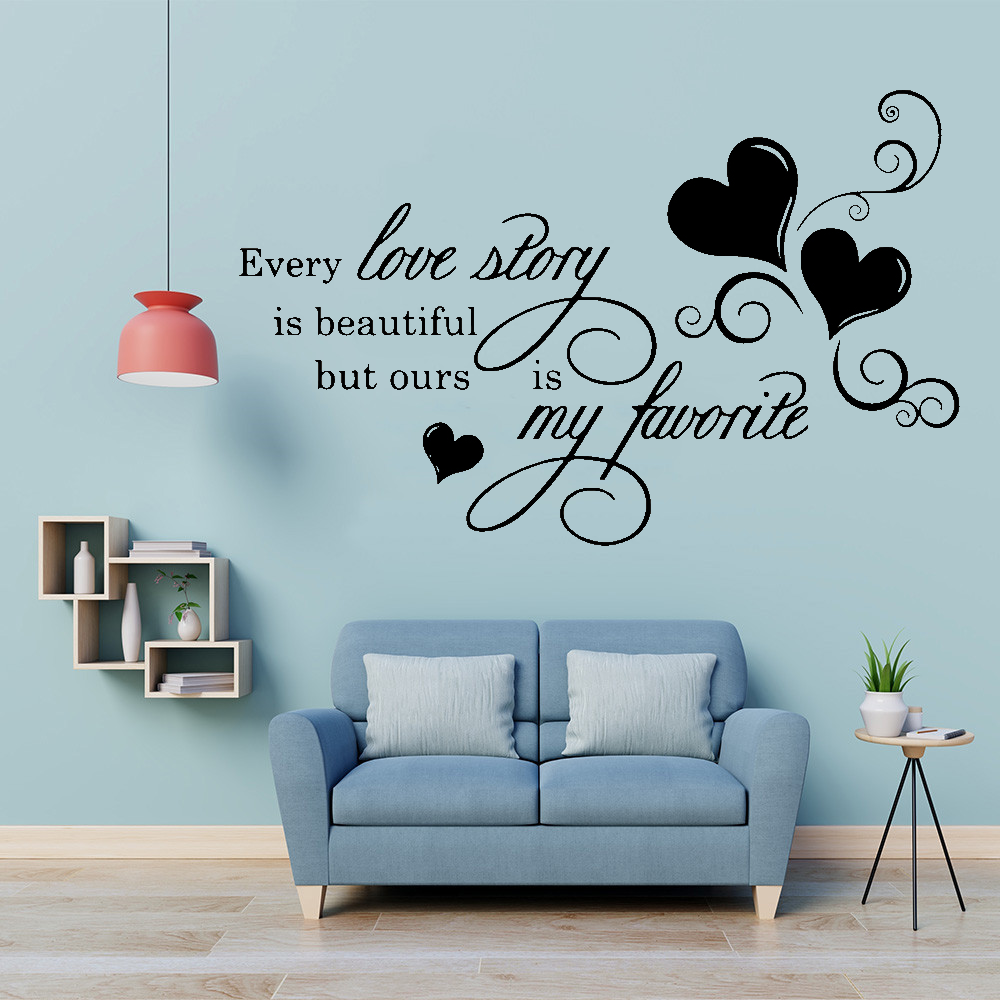 Love Quotes With Tree Wall Sticker Quote Words Decal Vinyl Decor Mural