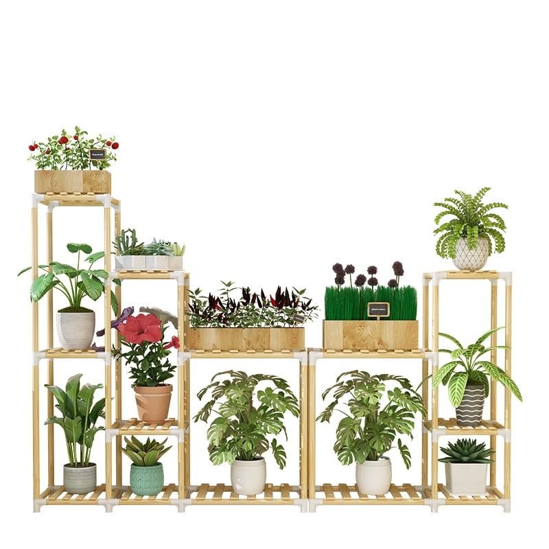Flower Rack Shelf Many Function Originality Solid Wood A Living Room Balcony Landing Type Meaty Flower Airs Flowerpot Frame