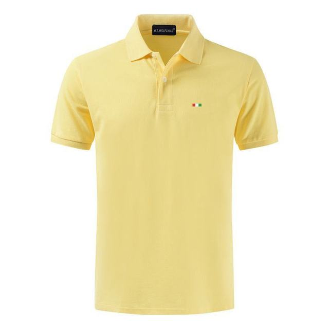 Top Quality 2020 New Solid Color Mens Polos Shirts 100% Cotton Short Sleeve Casual Polos Hommes Fashion Summer Lapel Male tops 4