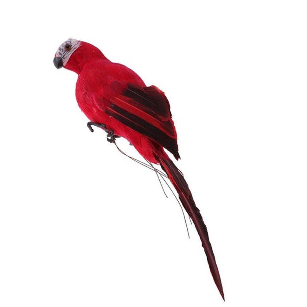 Статуэтка орнамент статуи животных имитация птицы реалистичные Красивые пены дерево газон домашний сад двор Декор - Цвет: Red
