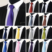 8cm men's formal business black tie fashion Solid Stripe suit for Men Wedding Party Casual Wine Red Necktie Shirt Accessories