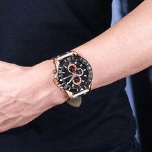 Chronograph Sport Mens Watches Top Brand Luxury Leather Quartz Watch Men Clock Wristwatches Relogio Masculino Reloj Hombre
