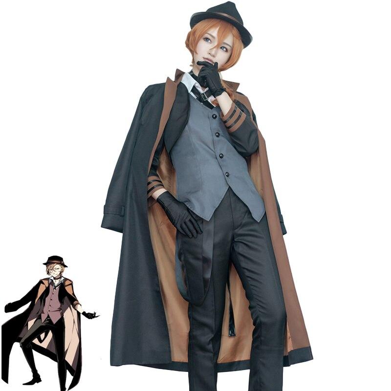 Chuya Nakahara Cosplay Bungou Stray Dogs Costume Port Mafia Anime Cosplay Chuya Nakahara Costume Halloween Uniforms Suits