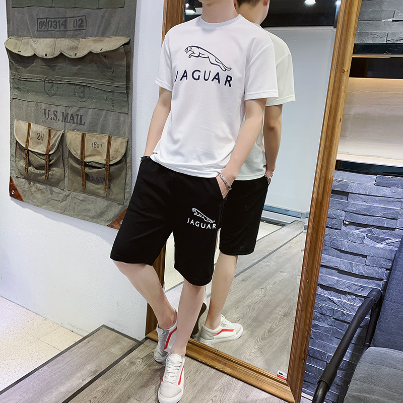 Summer MEN'S Shorts Trend Beach Shorts Sports Leisure Suit Fifth Pants Loose-Fit Summer Large Trunks