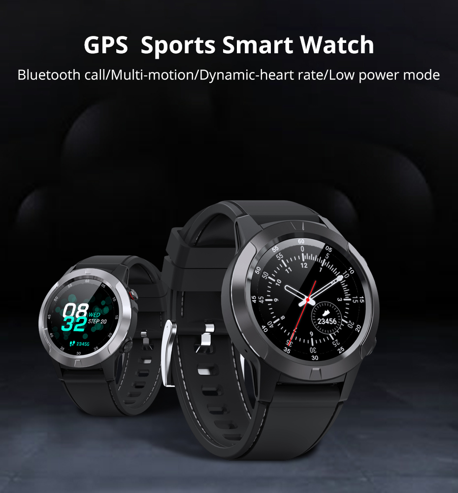 Makibes M4 Smart Watch Men Compass GPS Smartwatch Multi-language IP67 Waterproof Heart Rate Monitor Clock Call Message Reminder (11)